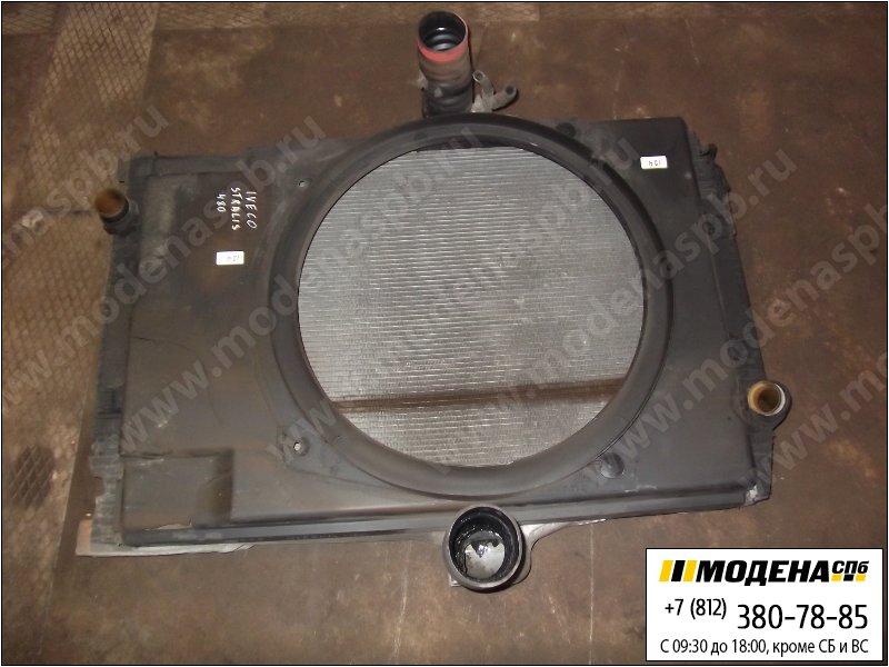 запчасти iveco Радиатор двигателя с интеркулером в сборе  41214781
