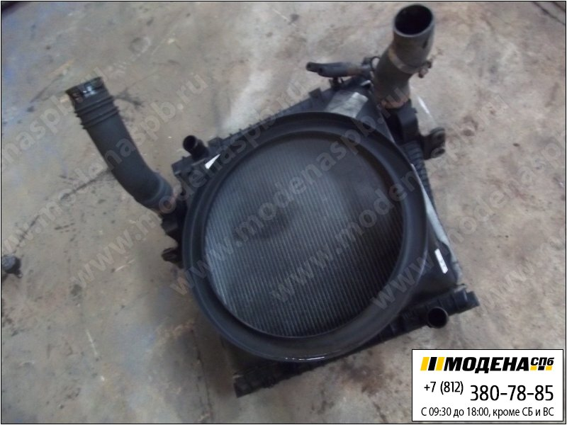 запчасти iveco Радиатор двигателя с радиатором кондиционера и интеркулером в сборе (555x570x42mm)  500361626