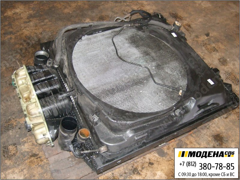 запчасти man Радиатор двигателя с интеркулером с радиатором кондиционера в сборе