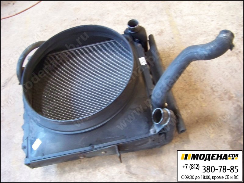запчасти man Радиатор двигателя с интеркулером в сборе (590x610x58mm)  85.06101-6010