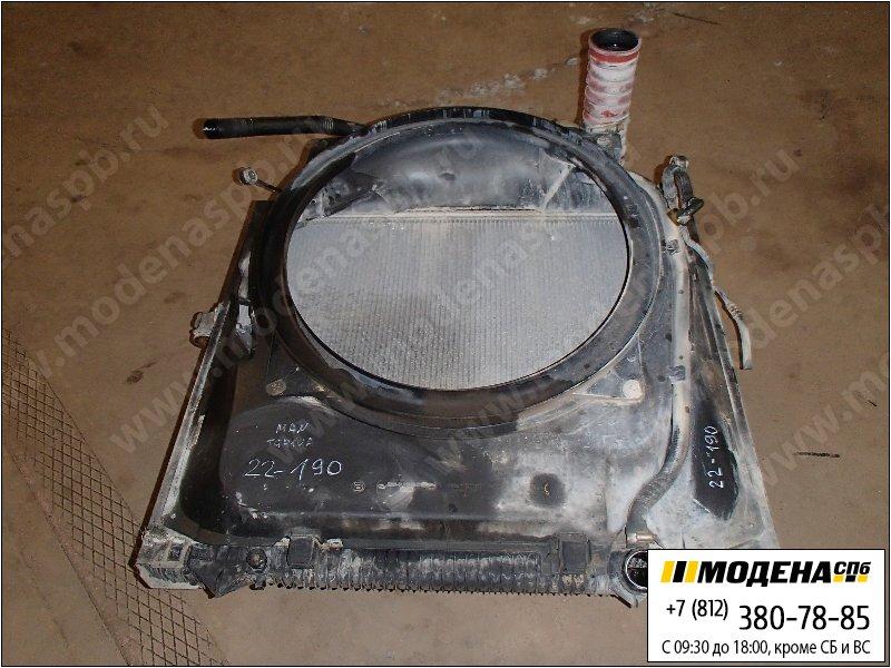 запчасти man Радиатор двигателя с интеркулером в сборе  81.06100-6435