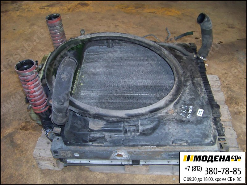 запчасти man Радиатор двигателя с интеркулером в сборе  81.06101-6472
