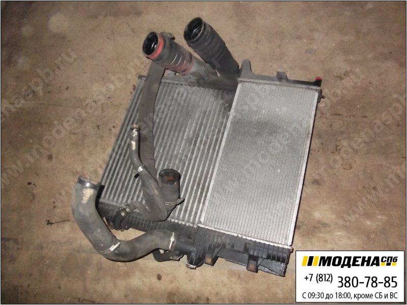 запчасти mercedes Радиатор двигателя с радиатором кондиционера и интеркулером в сборе (570x520x42mm)  A9735000904