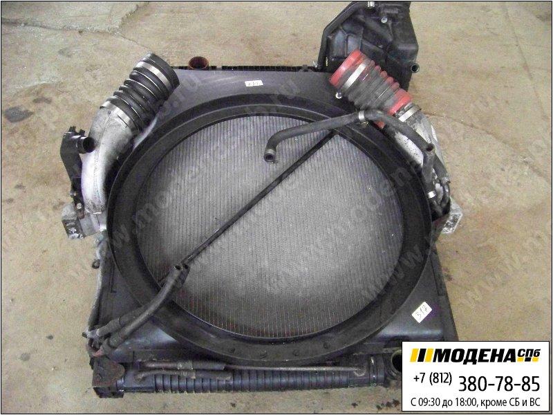 запчасти mercedes Радиатор двигателя с радиатором кондиционера и интеркулером в сборе (902x808x42mm)  A9425001003