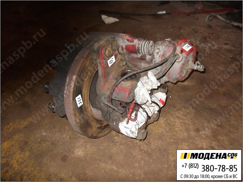 запчасти mercedes Ступица правая с тормозным диском и тормозной камерой  A9433320202