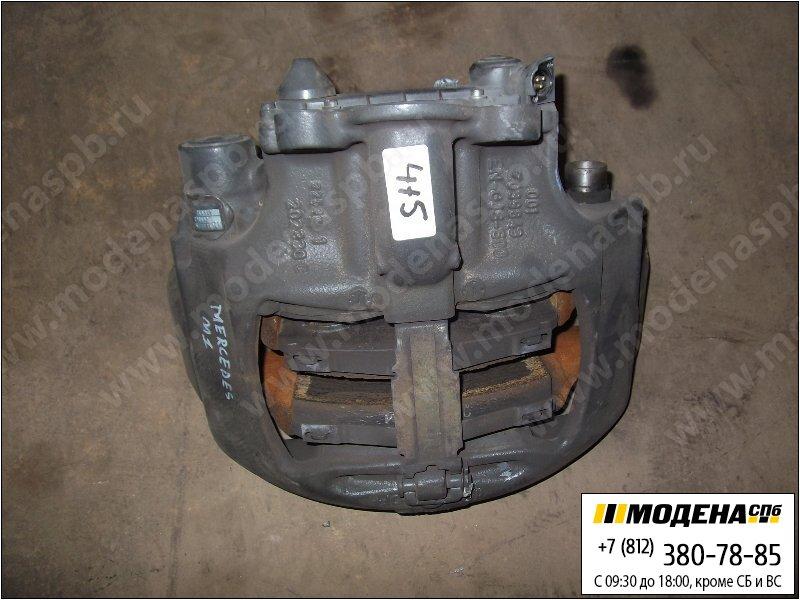 запчасти mercedes Суппорт (новый) с тормозными колодками  A9604200102