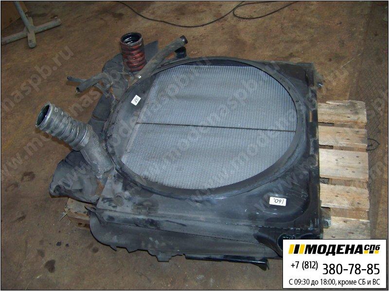 запчасти scania Радиатор двигателя с интеркулером в сборе (860x680x48) (дефект патрубка)  1516491